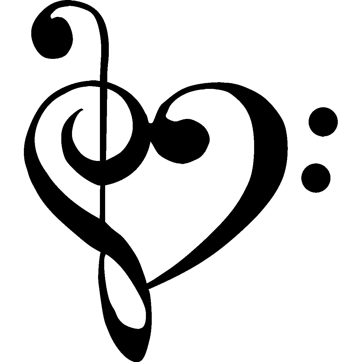 Music Notes Heart Clip Art Clipart Panda