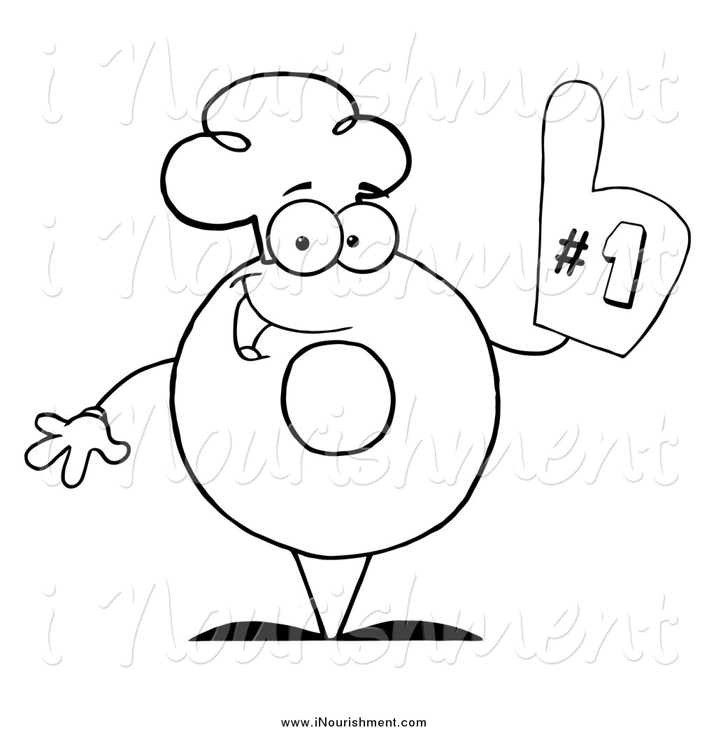 Number One Black And White Clipart Panda