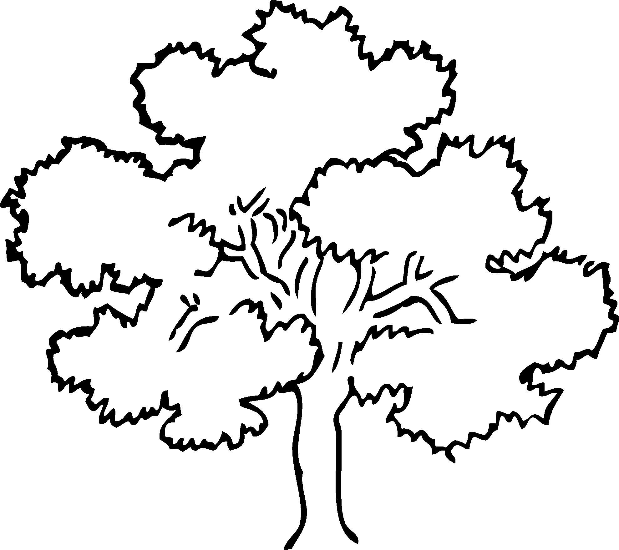 Simple Black And White Tree Design Clipart Panda