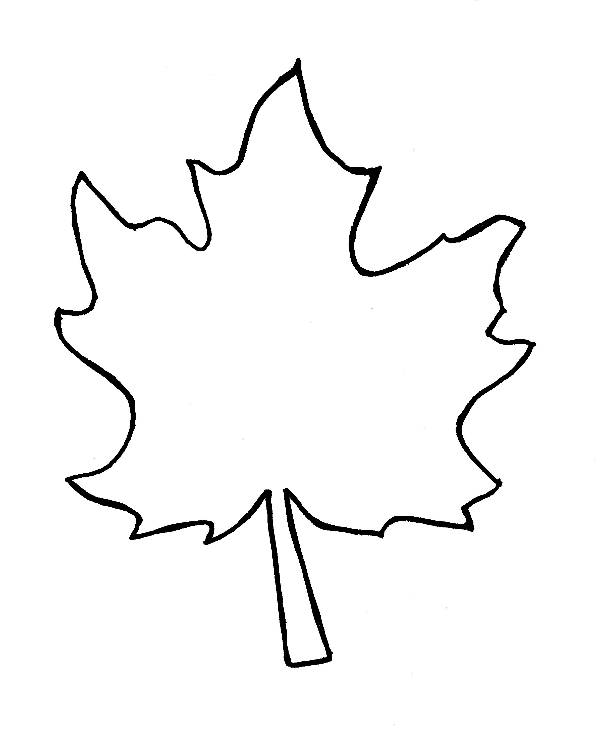 Oak Leaves Outline Clipart Panda