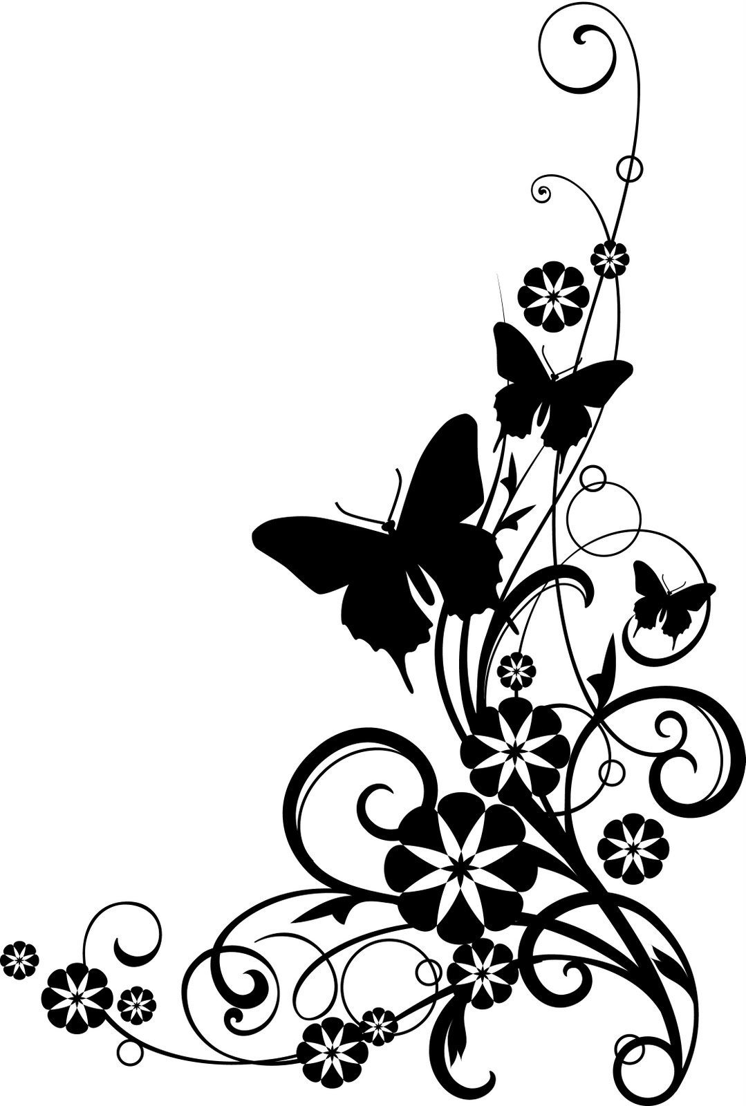 Ocean Animals Clip Art Black And White