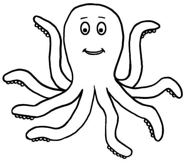 cute octopus coloring page clipart panda free clipart images