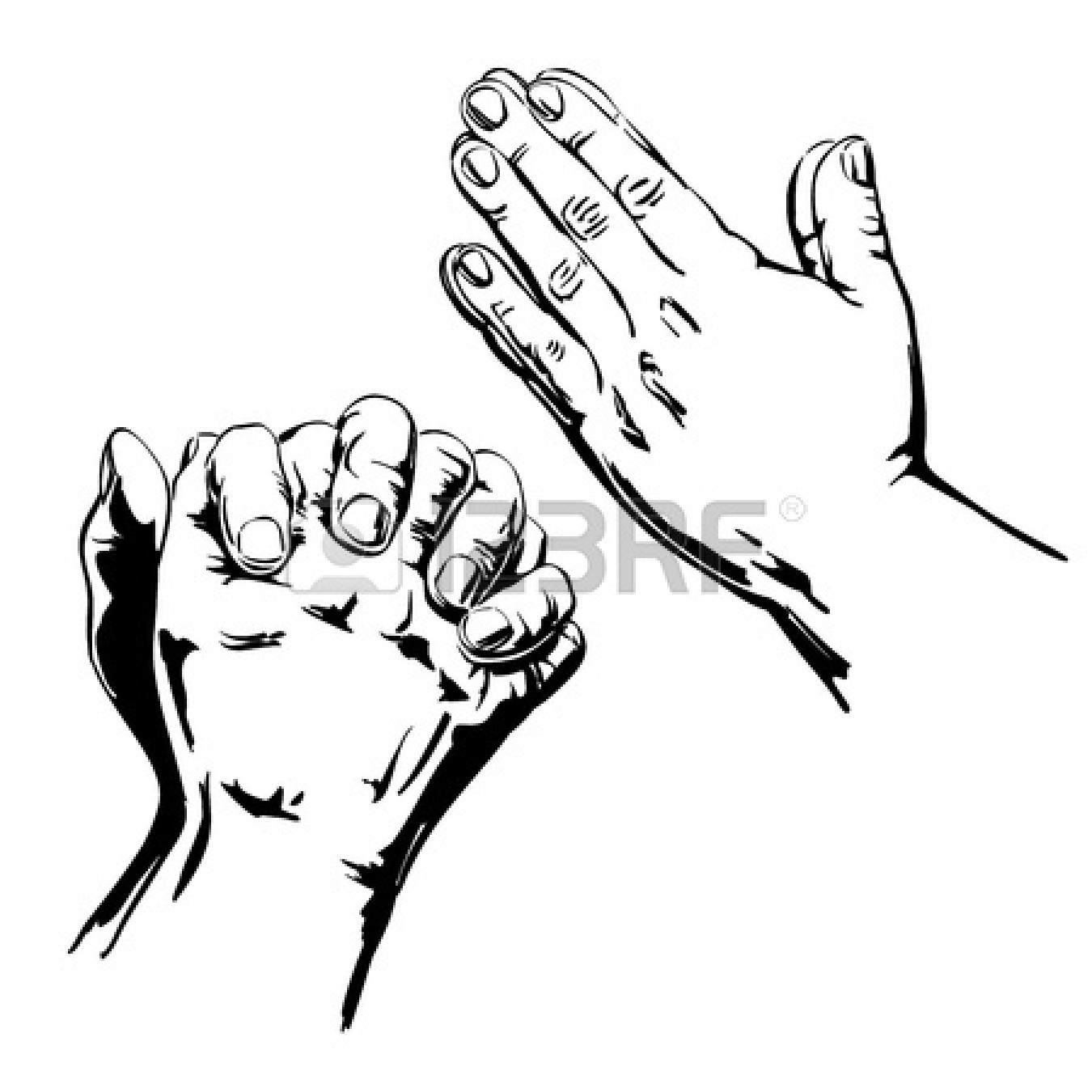 Open Praying Hands Drawing Clipart Panda