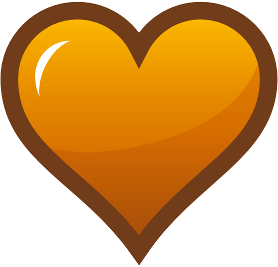 Orange Heart Clipart Clipart Panda Free Clipart Images