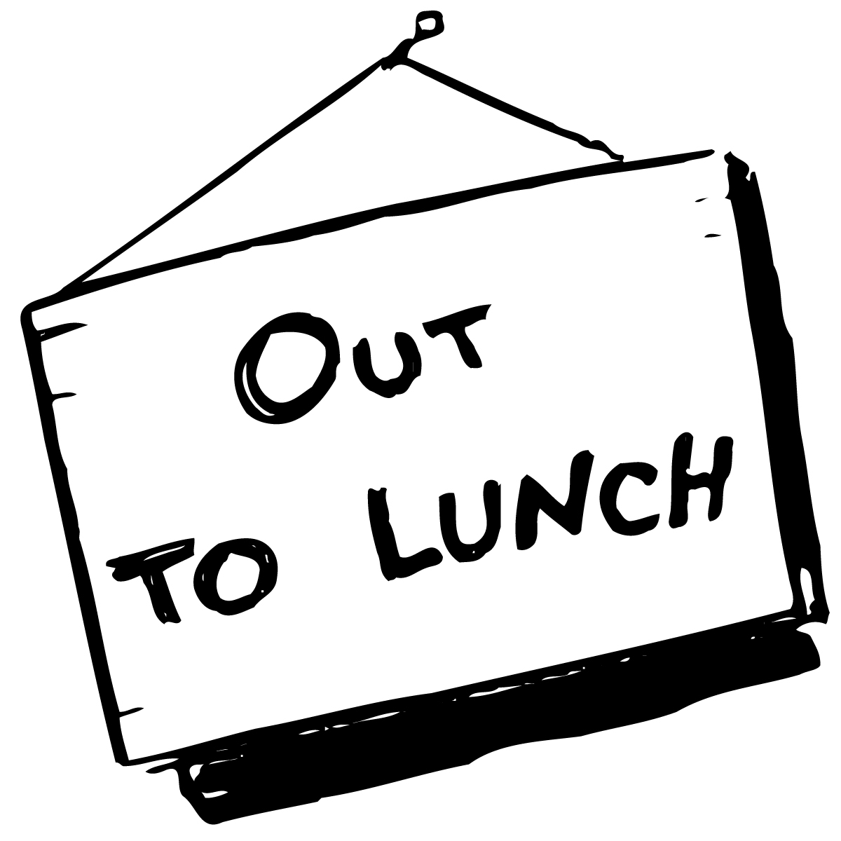 Out To Lunch Sign Clipart Panda