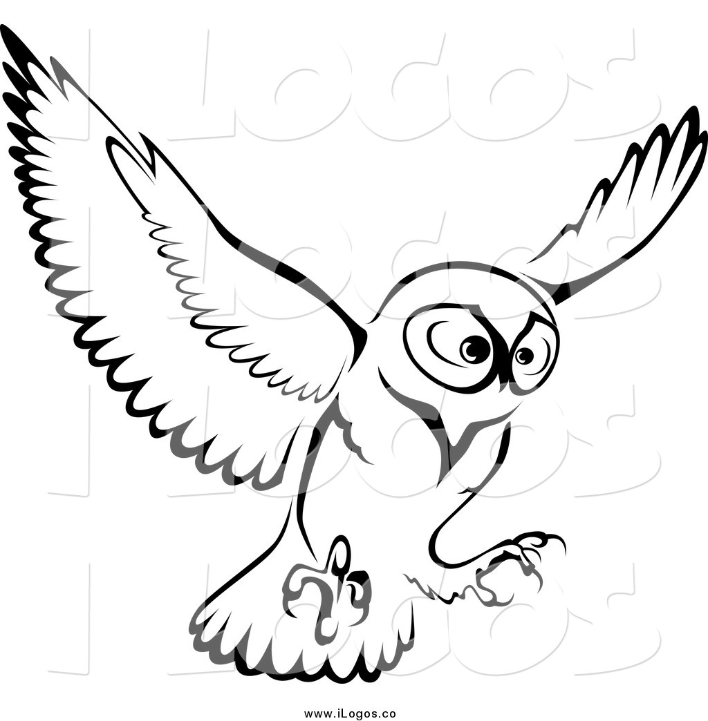 Wise Owl Clipart Black And White Clipart Panda