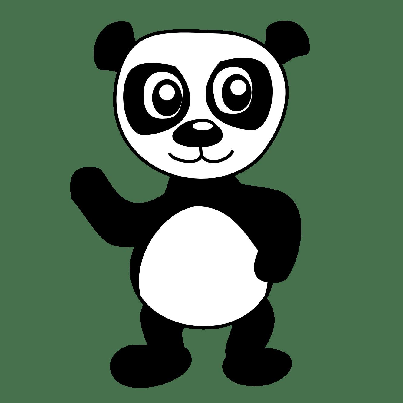 Panda Coloring Pages Clipart Panda