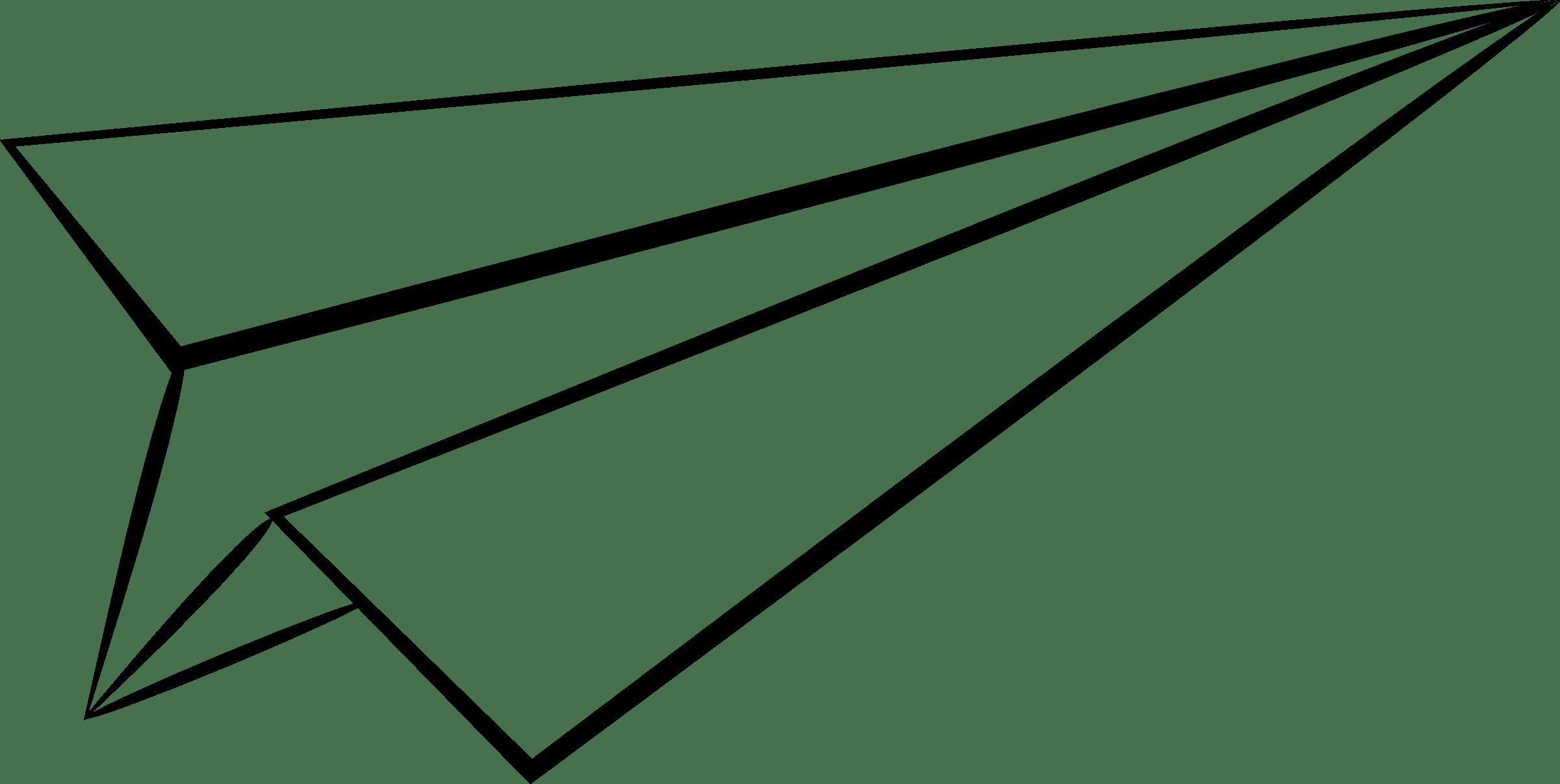 Paper Airplane Drawing Clipart Panda