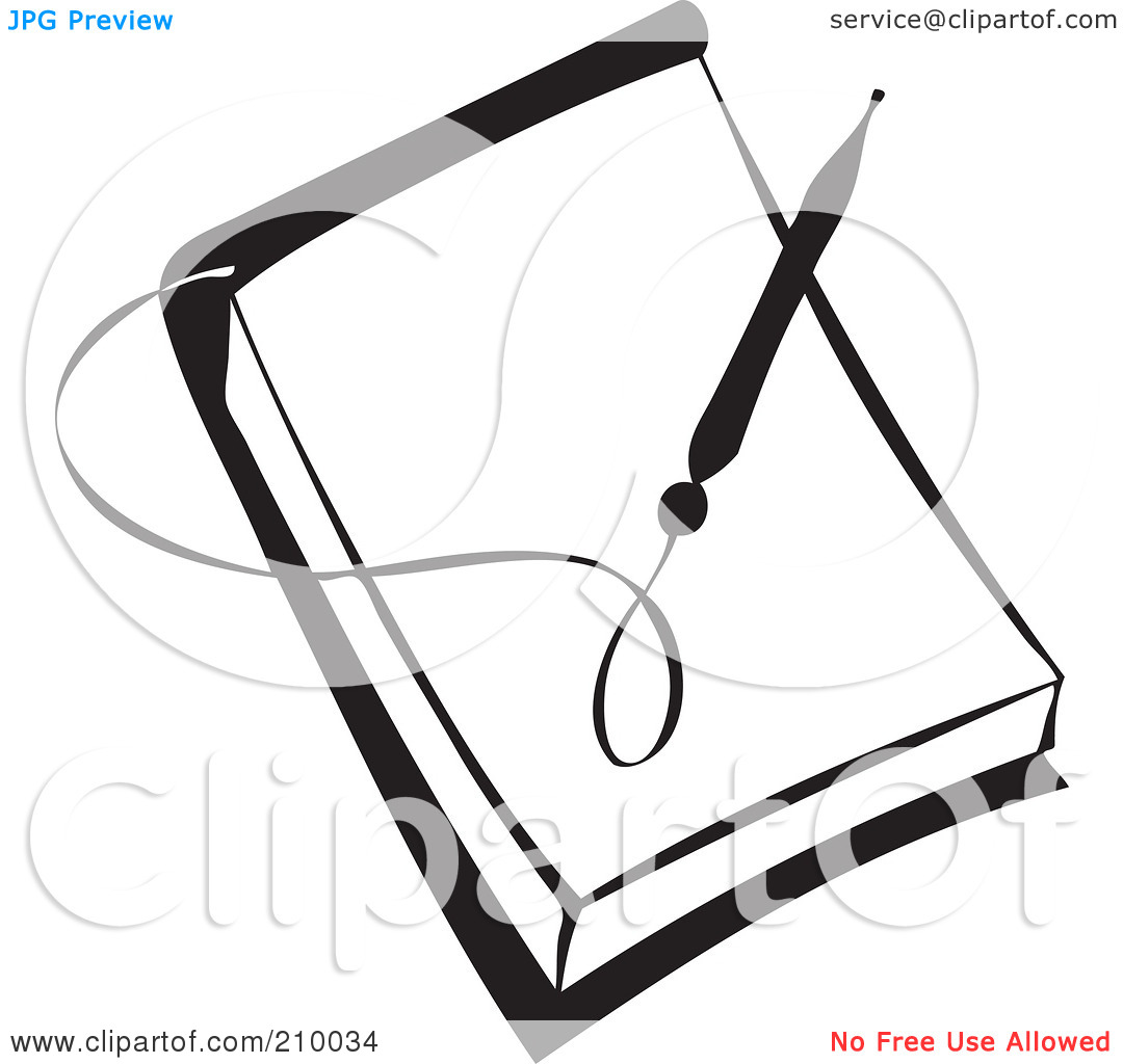 Pen And Paper Clipart Black And White