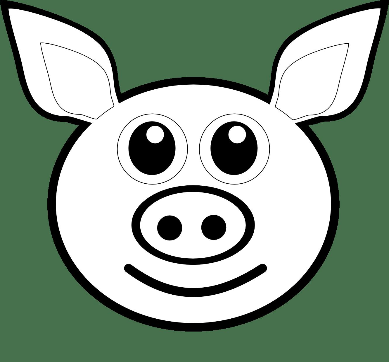 Cute Pig Face Clip Art Clipart Panda
