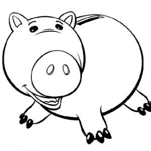 piggy bank coloring page toy story fat piggy bank coloring page