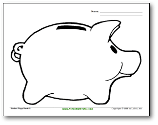 piggy bank coloring page clipart panda free clipart images