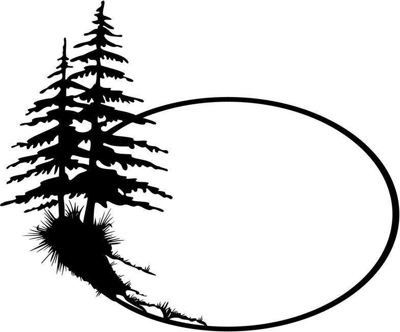 Black And White Pine Tree Clipart Clipart Panda Free