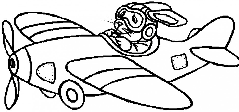 helicopter coloring pages download a rabbit flying a small helicopter