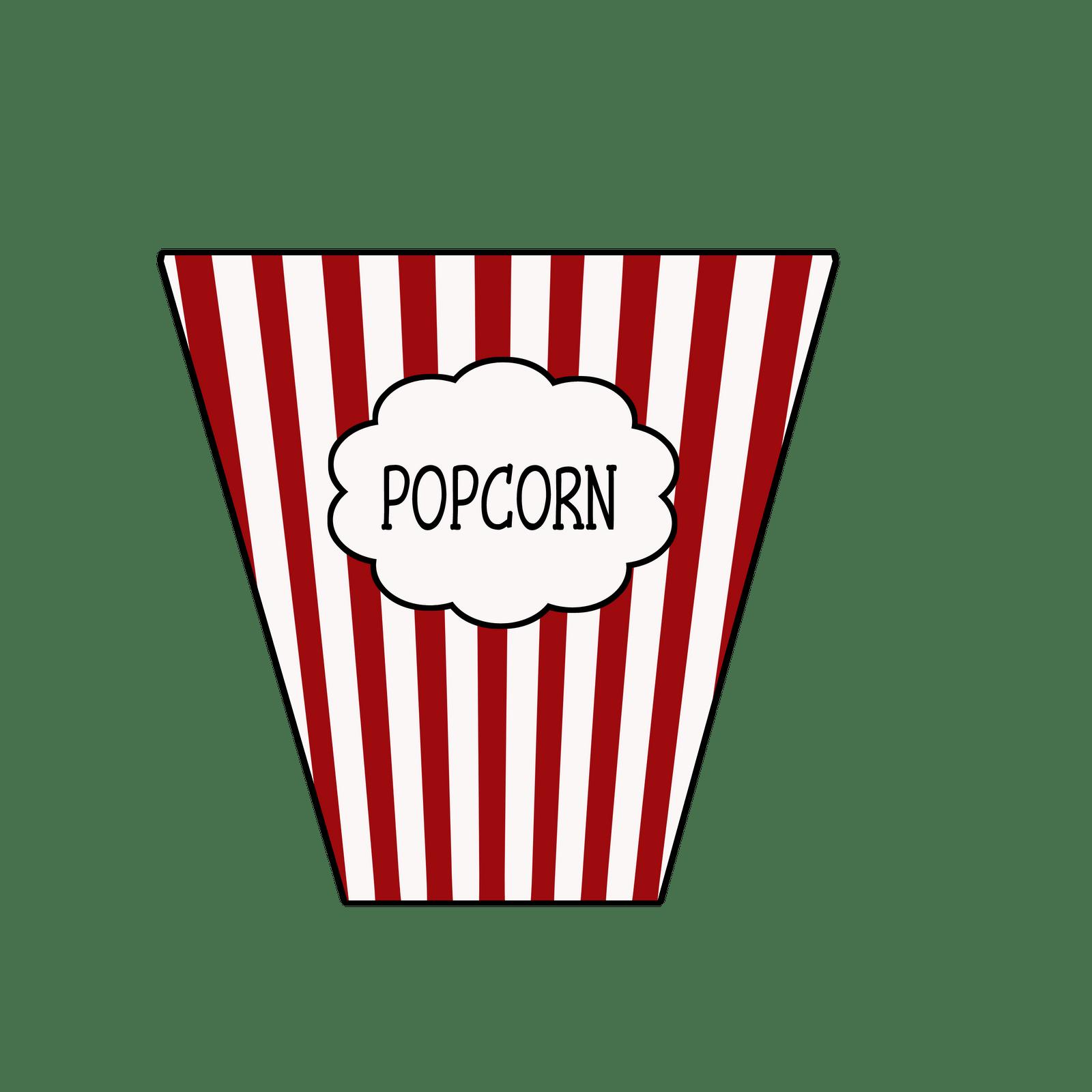 Popcorn Clip Art Black And White Outline