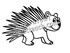 porcupine coloring page clipart panda free clipart images