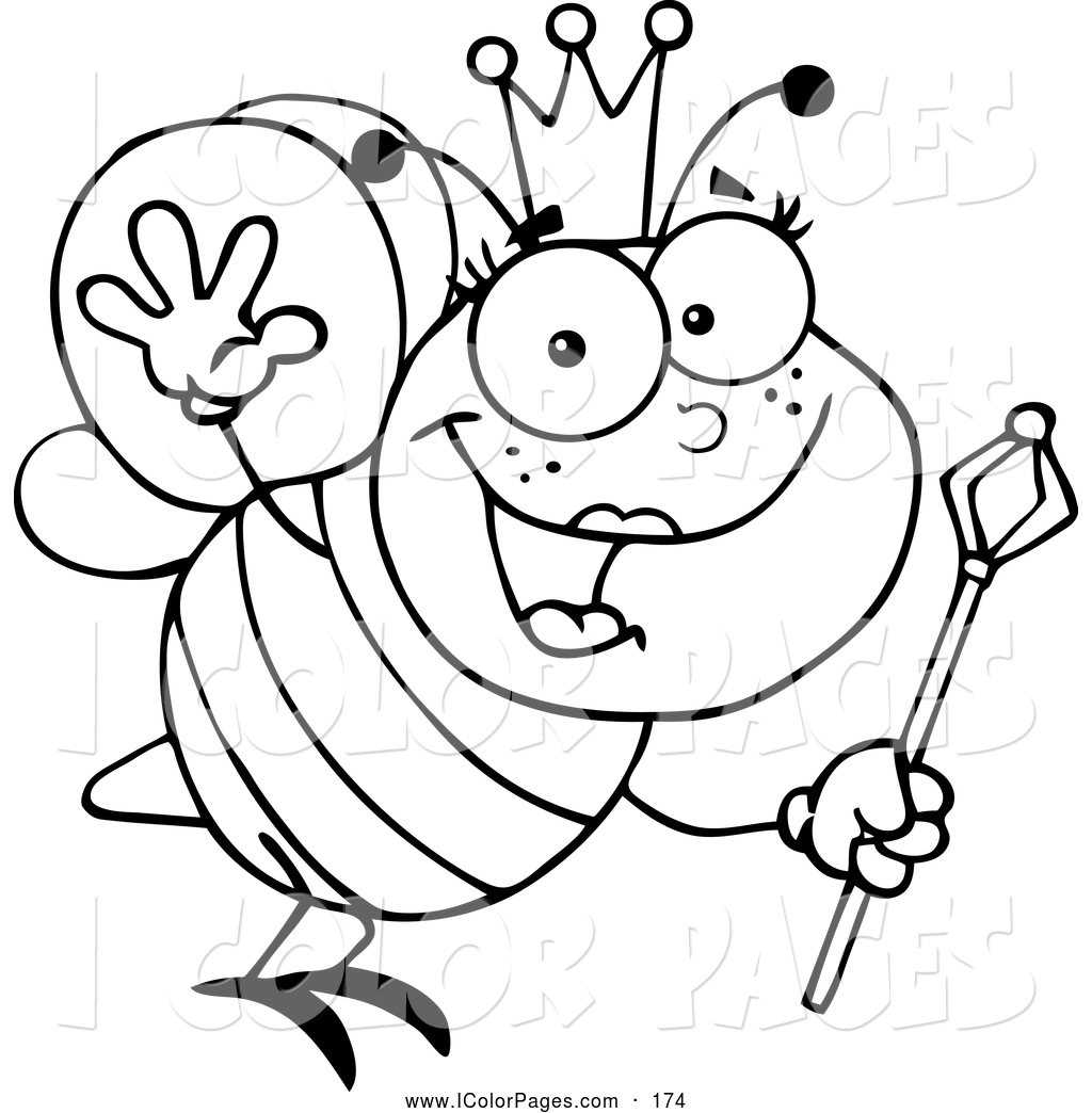 Queen Bee Clipart Black And White Clipart Panda