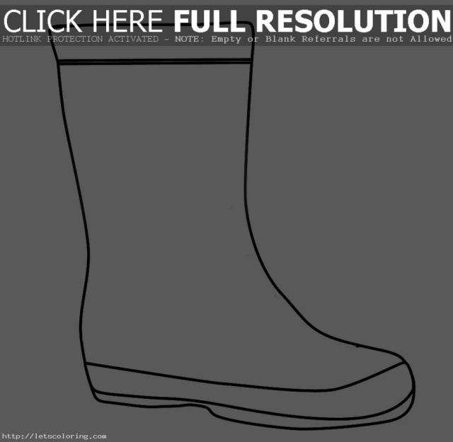 Coloring Page Rain Boots  Clipart Panda - Free Clipart Images