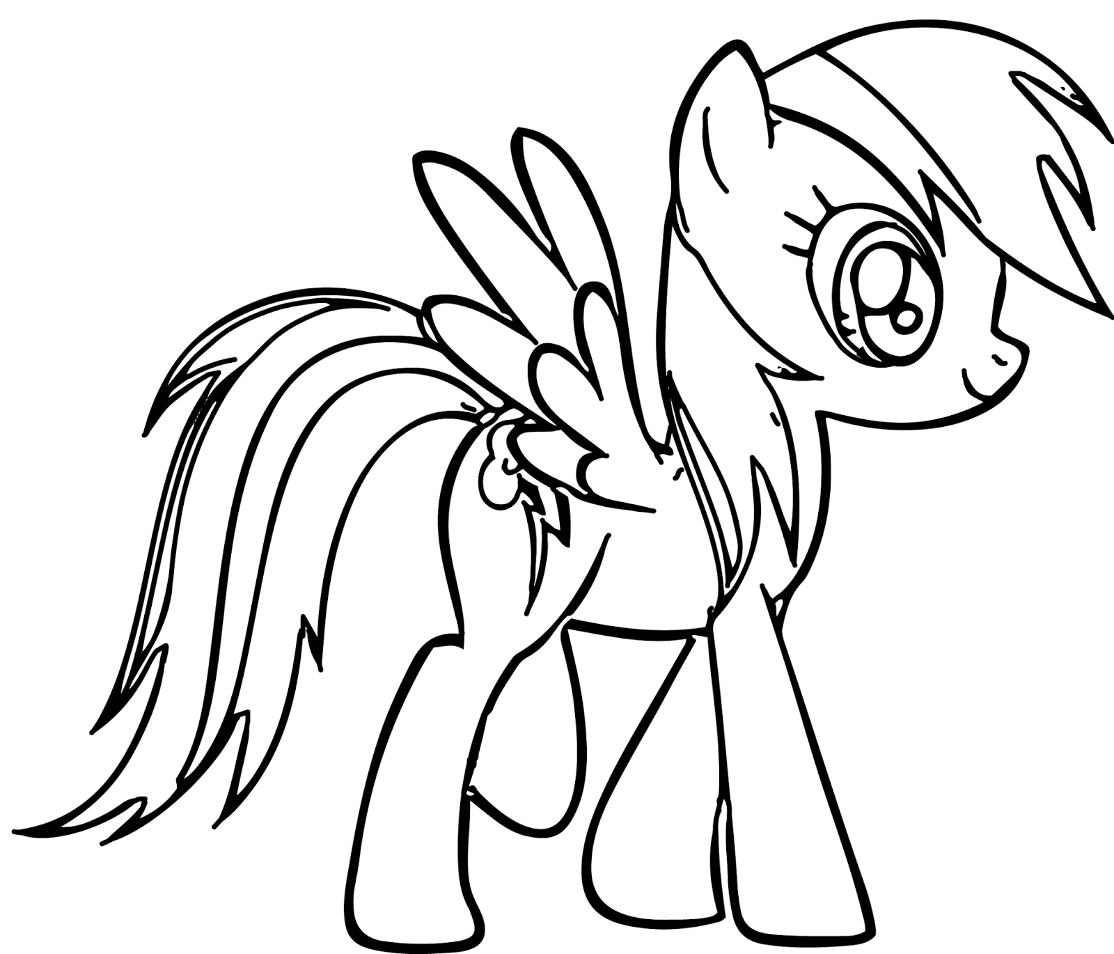 Rainbow Dash Coloring Page Clipart Panda