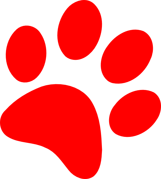 Red Dog Paw Clipart | Clipart Panda - Free Clipart Images (534 x 595 Pixel)