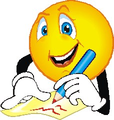 writing smiley face clipart