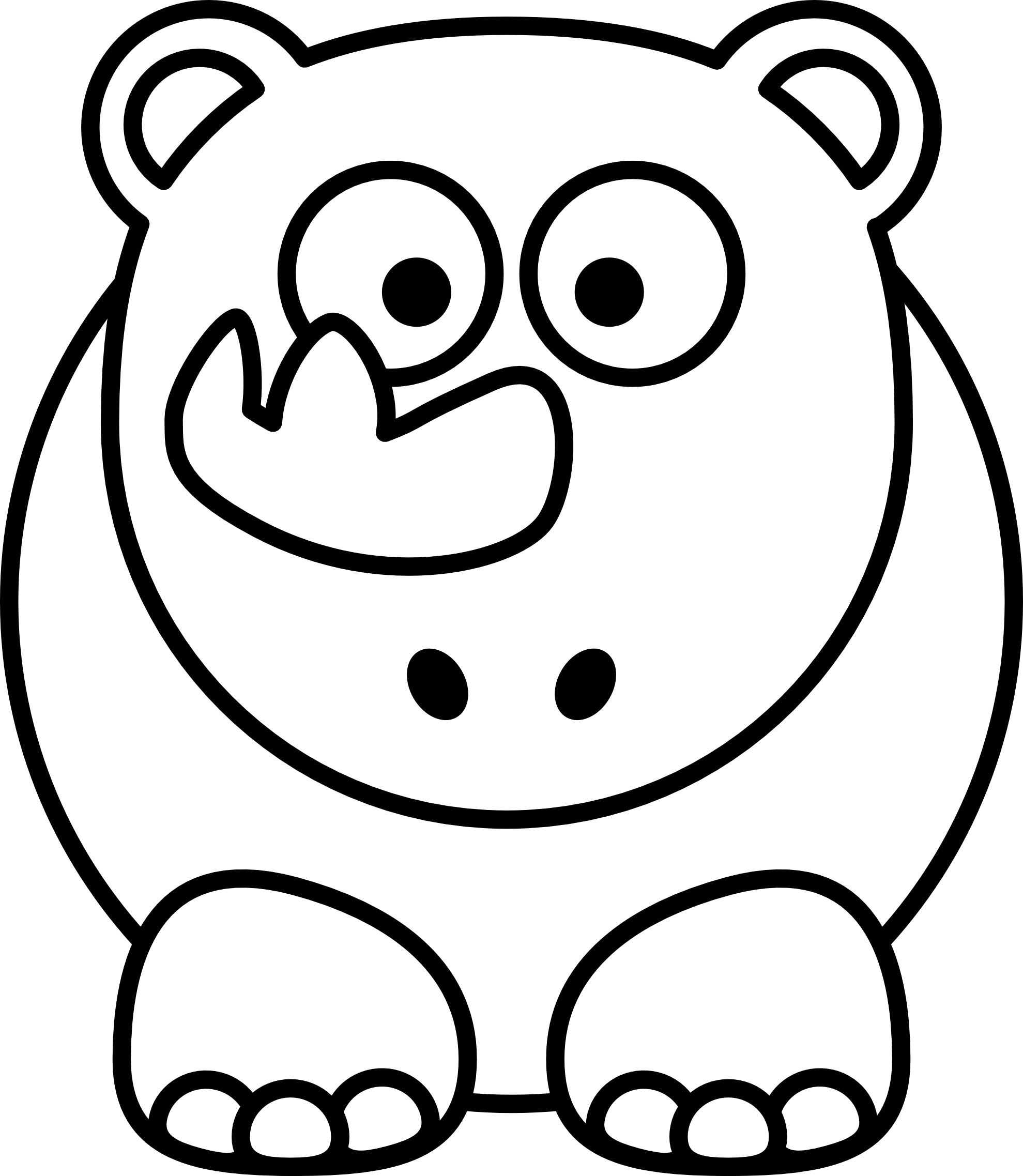 Yawn Clipart Black And White Clipart Panda