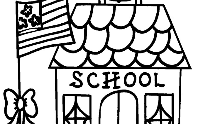 coloring pages of school house cooloring com