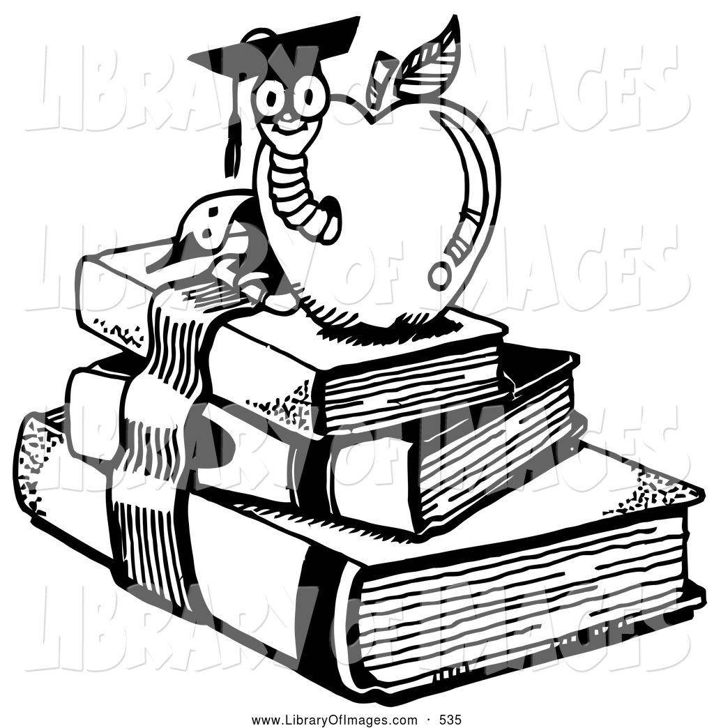 School Apple Clip Art Black And White