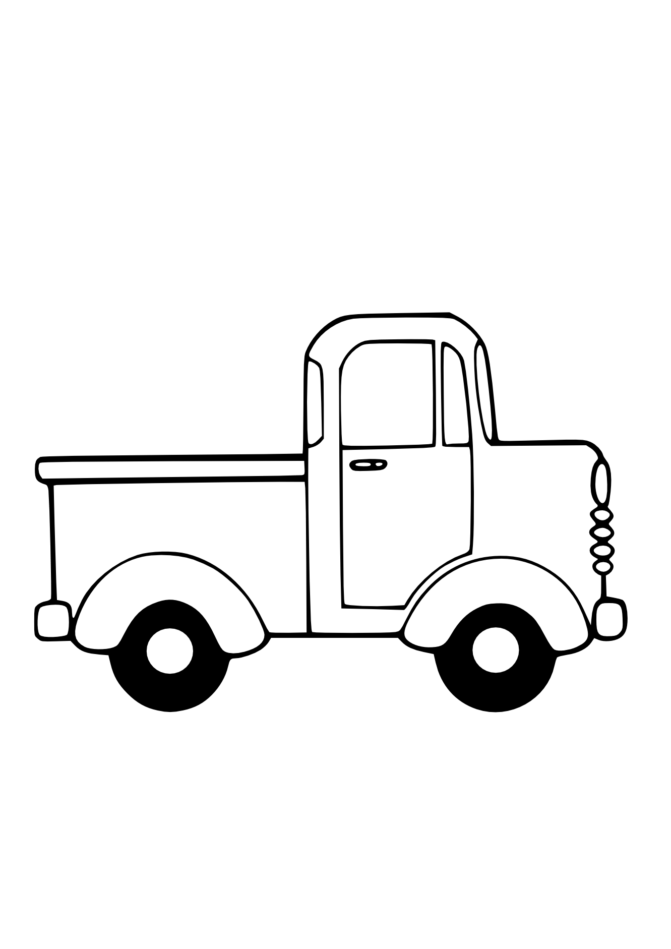 Chevy Truck Clipart Black And White Clipart Panda