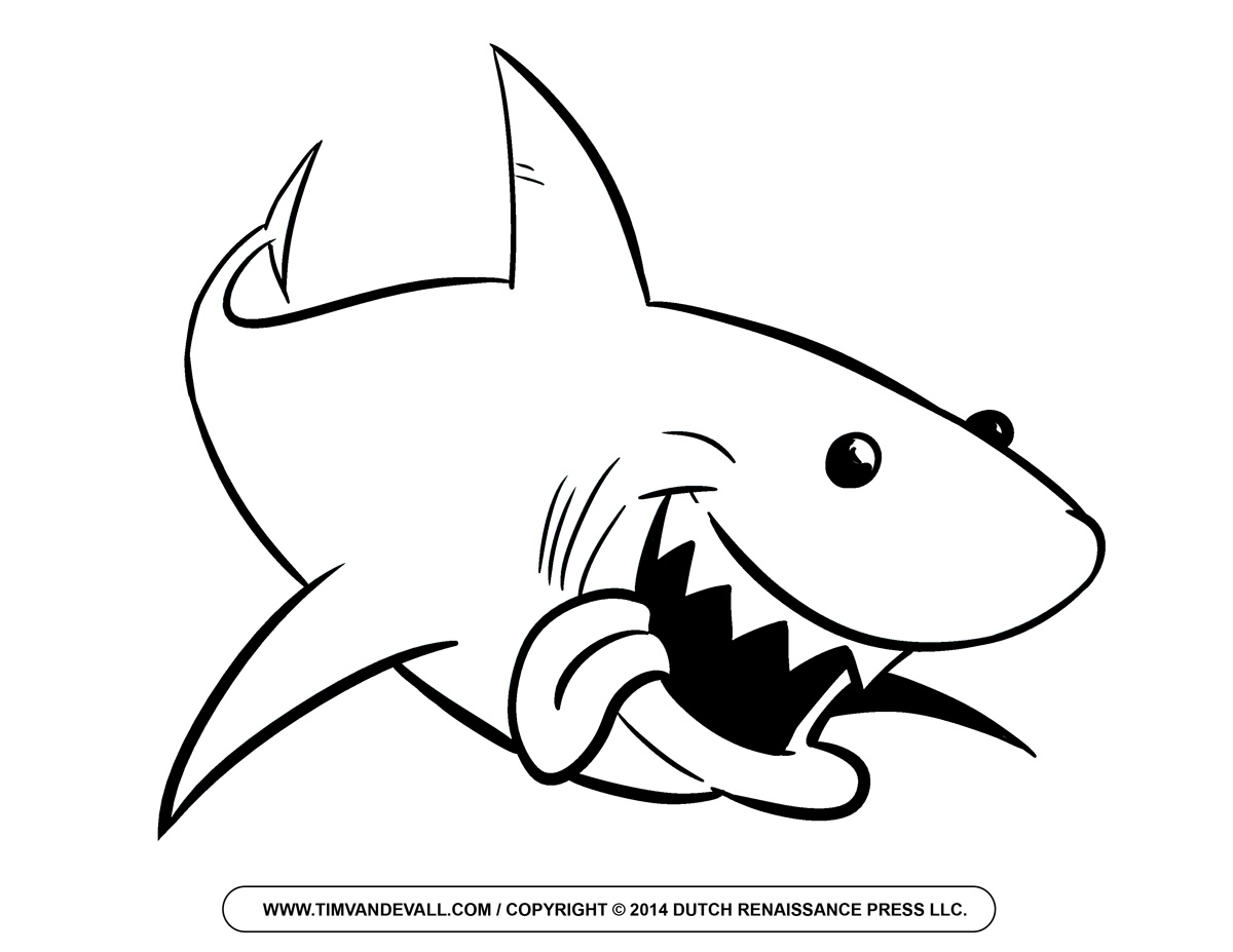 Great White Shark Drawing Clipart Panda