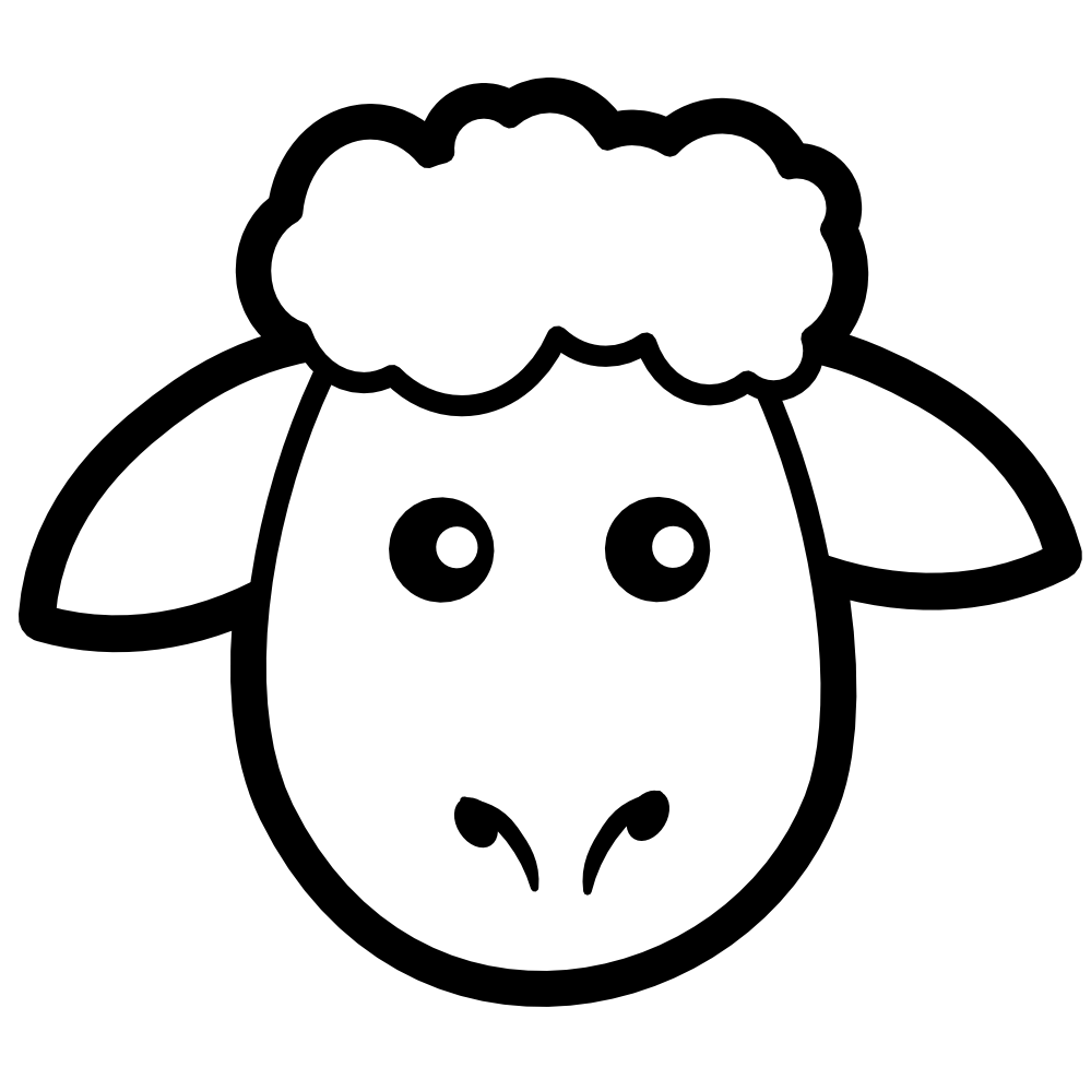 clipart sheep coloring pages cooloring com