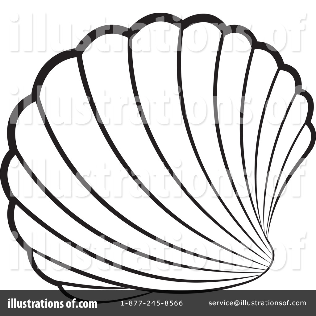 Shell Clip Art Free Black And White Clipart Panda