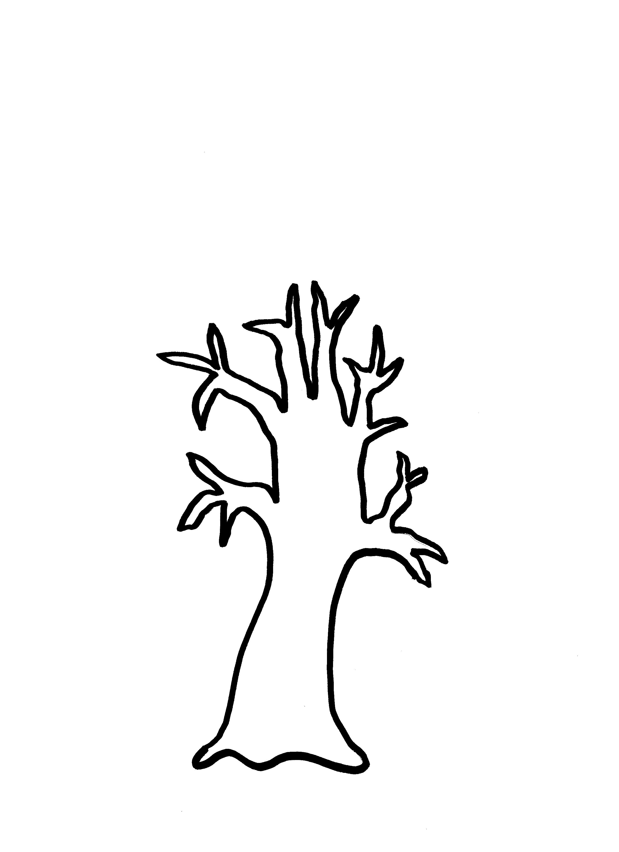 Bare Tree Coloring Page Clipart Panda