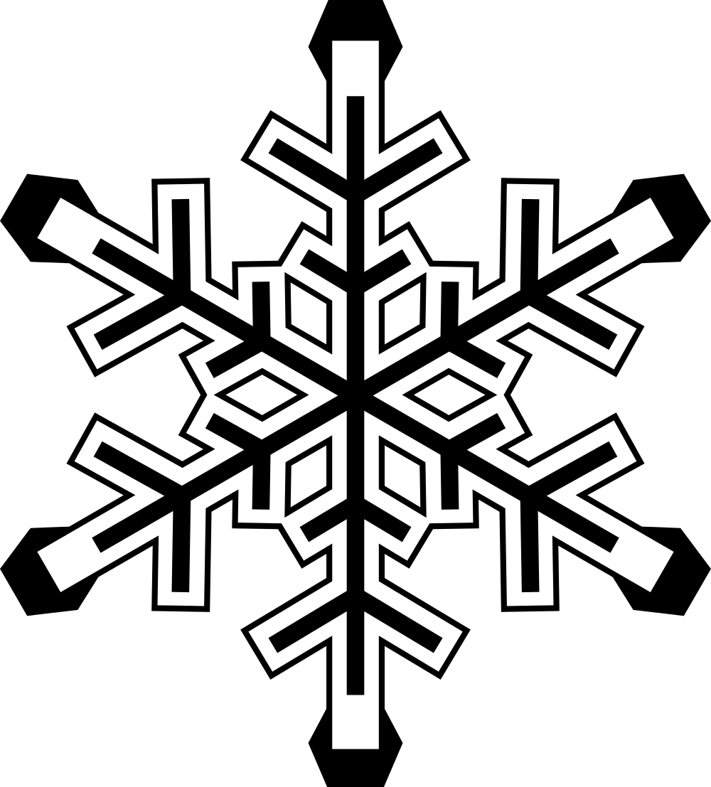 Snowflake Cookie Template
