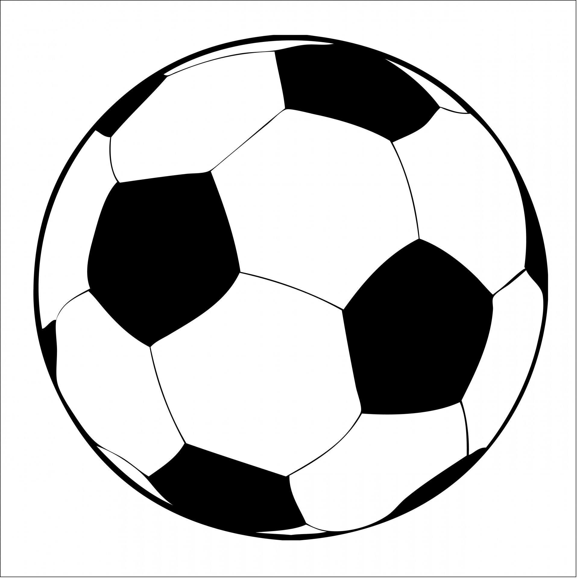 Football Clipart Black And White Clipart Panda