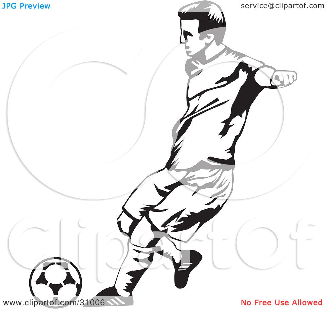 Soccer Goalie Clipart Black And White