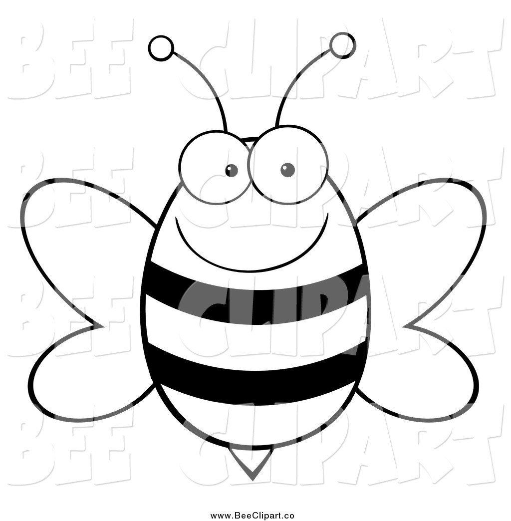 Black And White Cartoon Bee Pictures To Pin