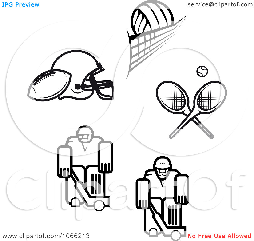Sports Clip Art Black And White Cliparts