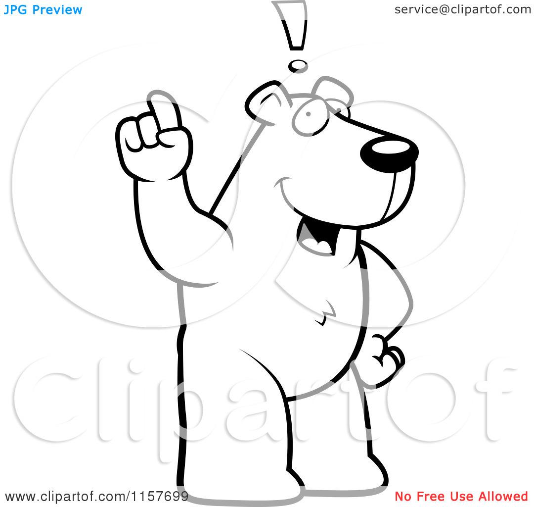Standing Black Bear Drawing Clipart Panda