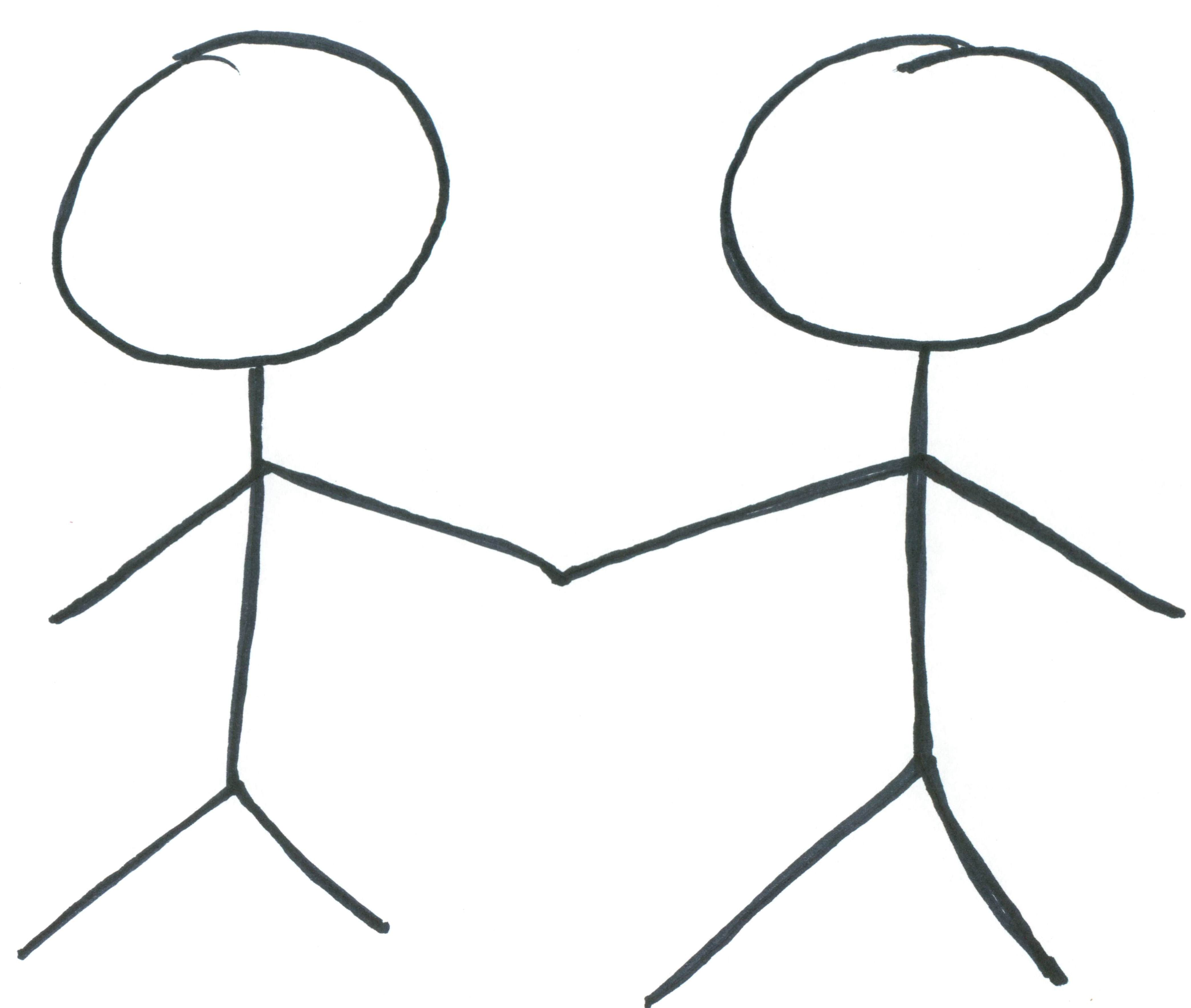 Two Friends Holding Hands Clipart Clipart Panda