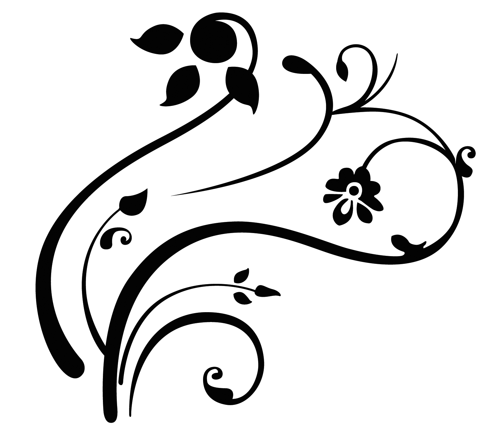 Simple Swirls Black Clipart Panda