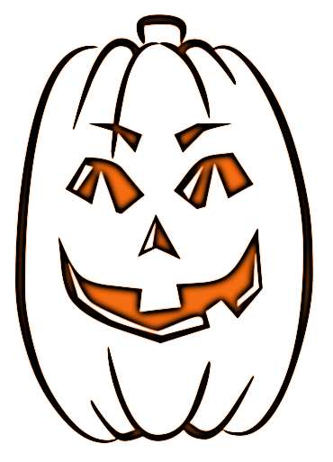 Pumpkin Tall Lit Outline   Clipart Panda - Free Clipart Images (370 x 513 Pixel)