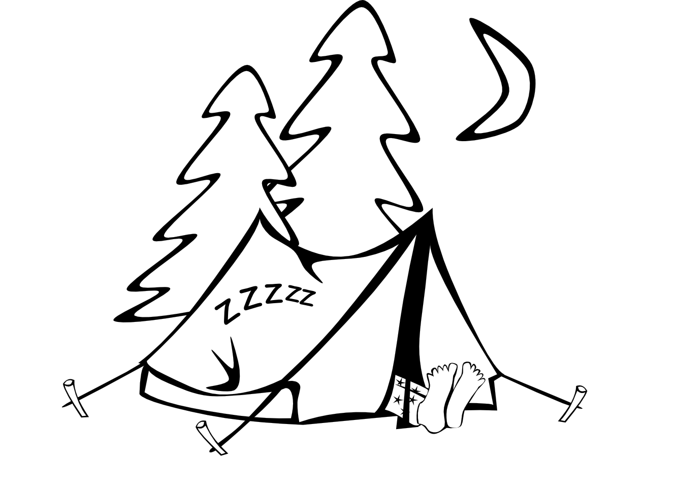 Tent And Campfire Clipart Clipart Panda