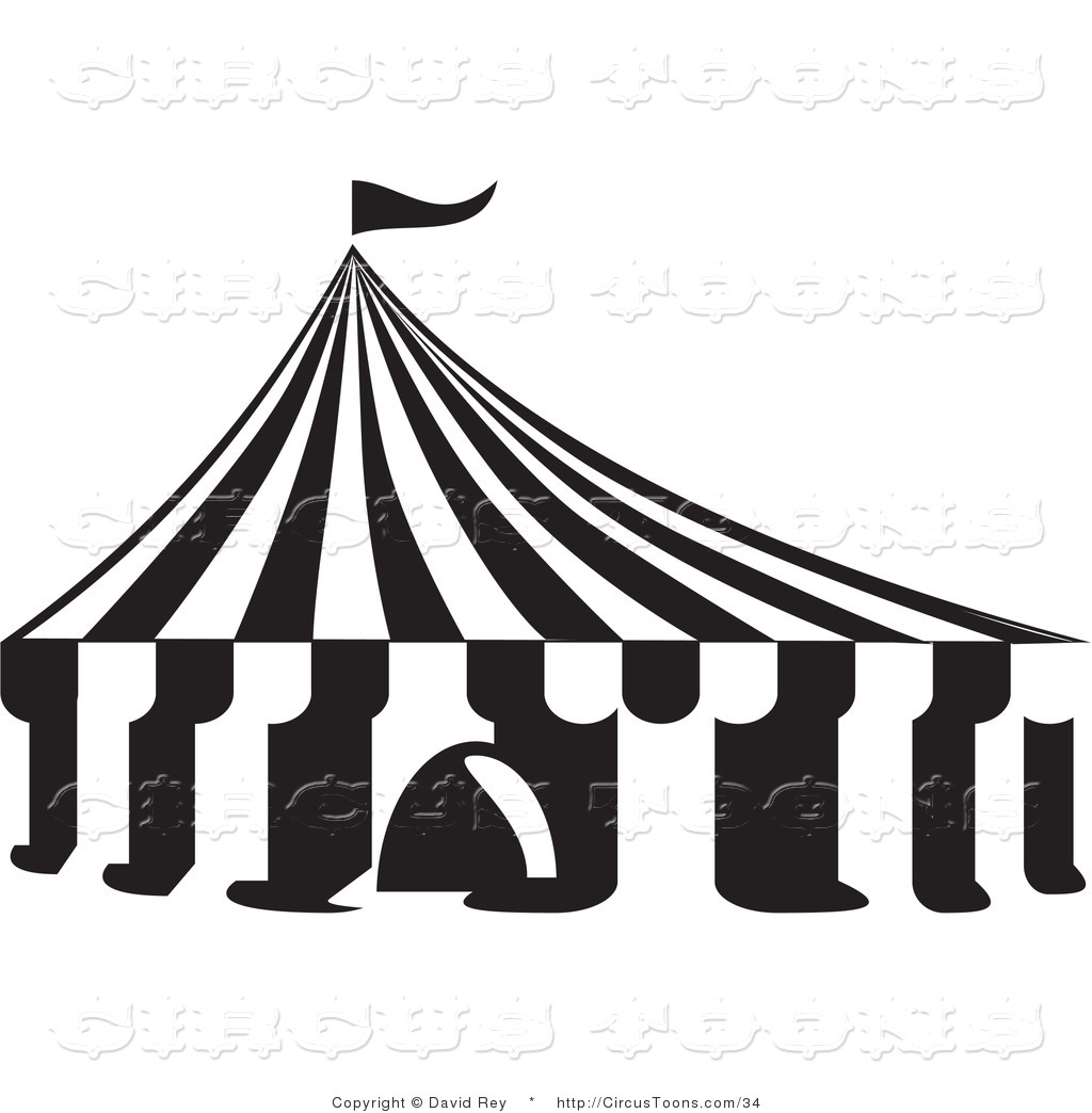 Circus Tent Clipart Black And White Clipart Panda