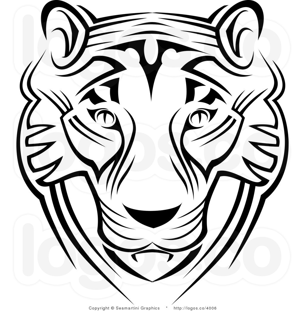Tiger Face Clipart Black And White Clipart Panda
