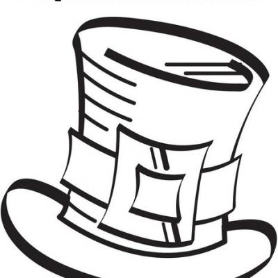 Free Free Printable Top Hat Coloring Page, Download Free Clip Art ... | 400x400
