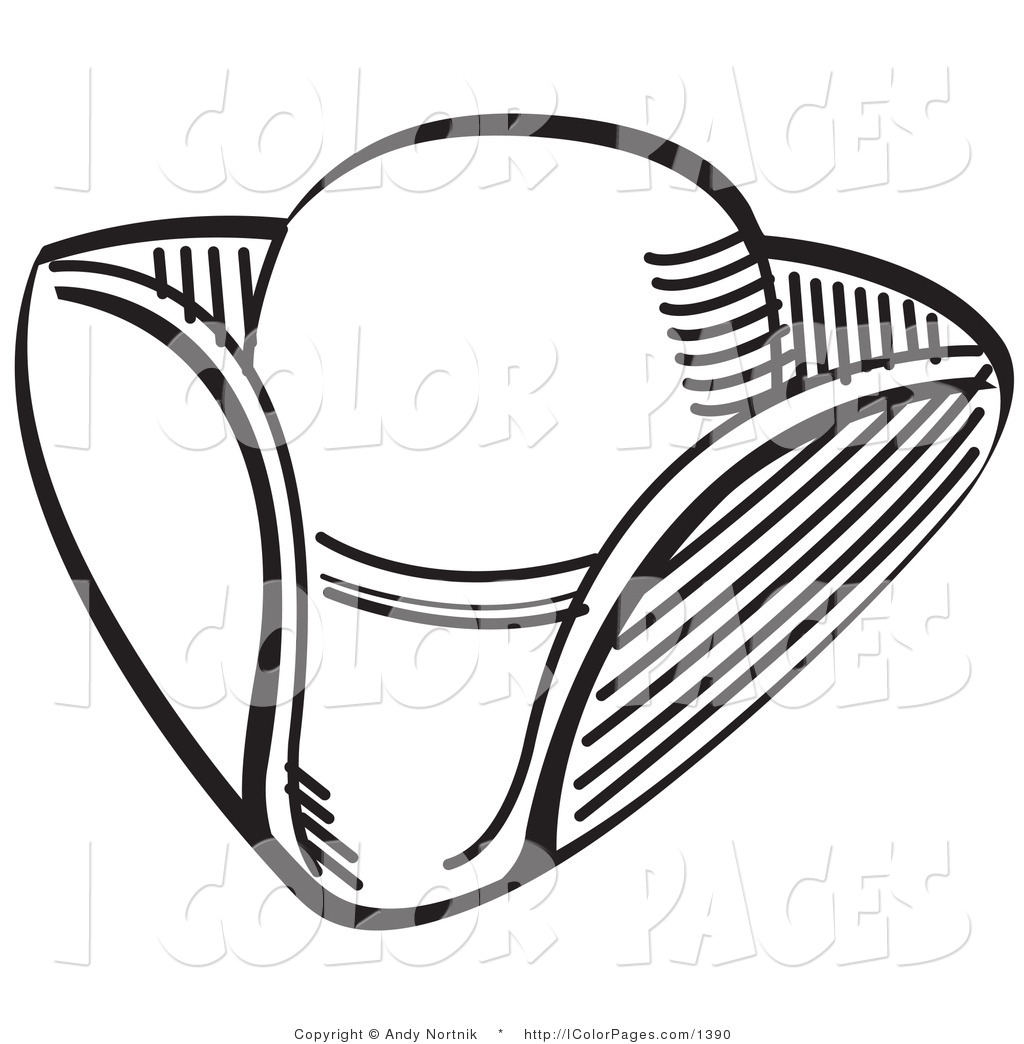 Top Hat Coloring Page Clipart Panda