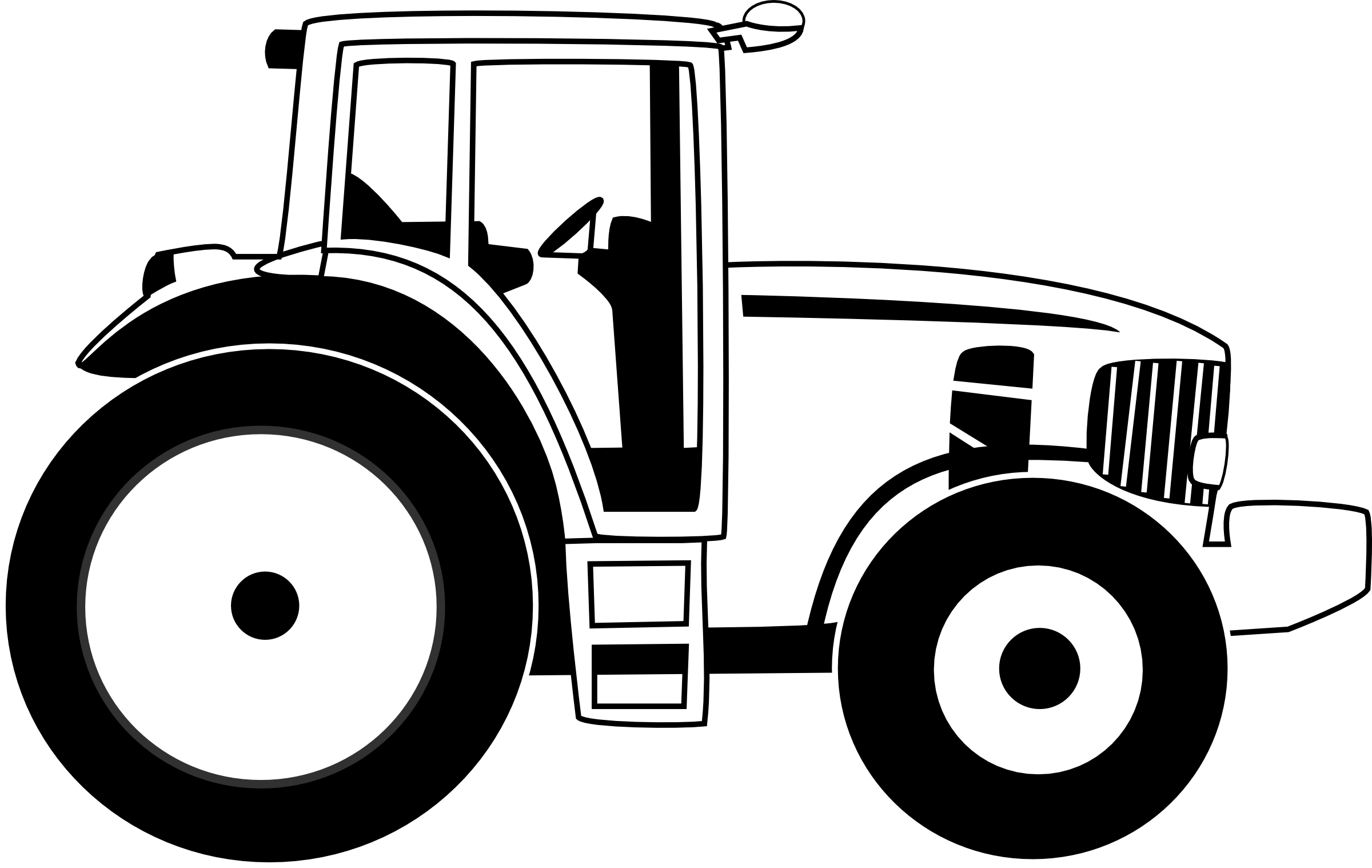 Tractor Clipart Black And White Clipart Panda