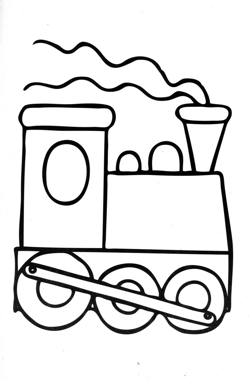 Train Engine Coloring Page Clipart Panda