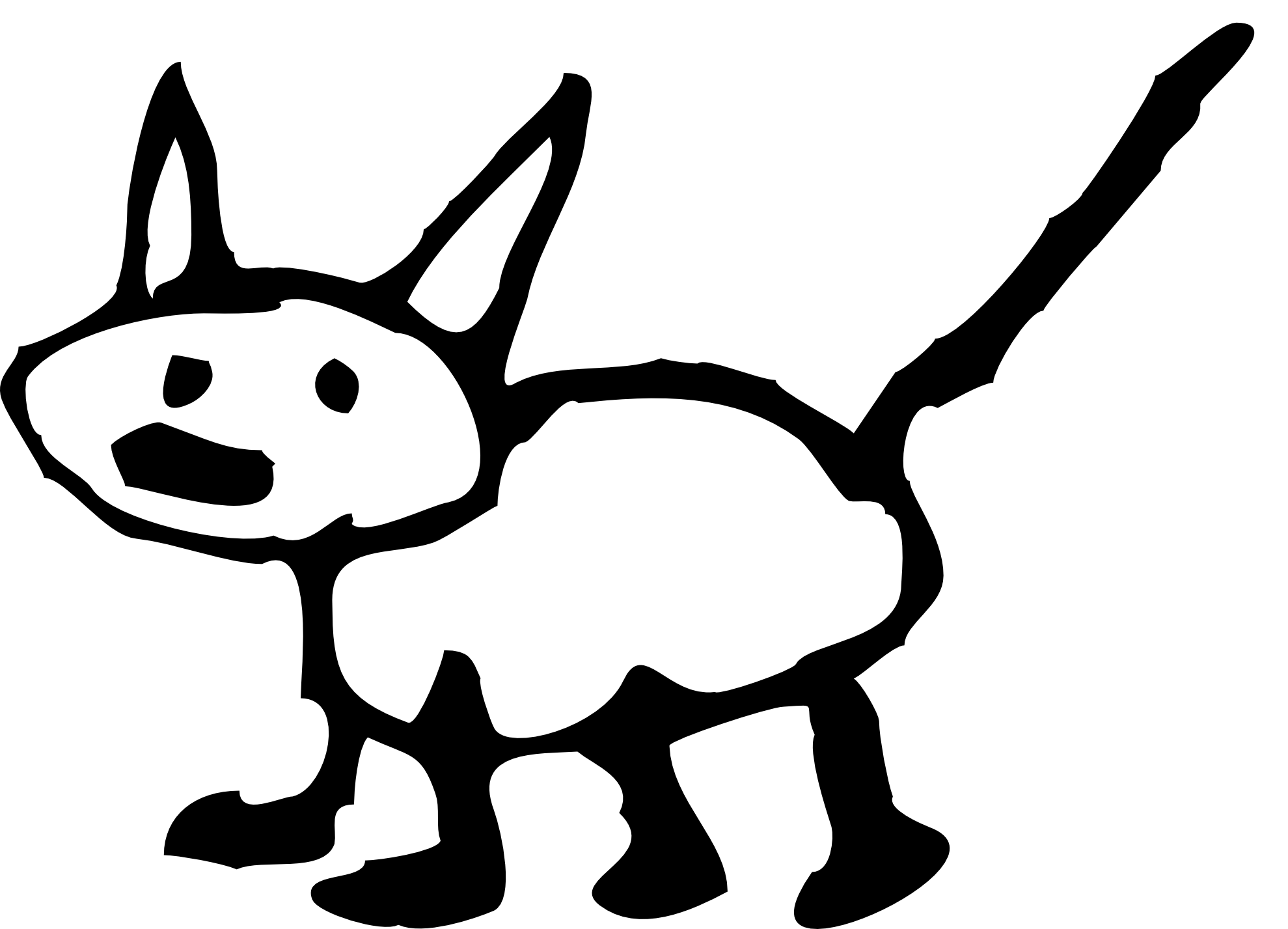 Kangaroo Clipart Black And White Clipart Panda